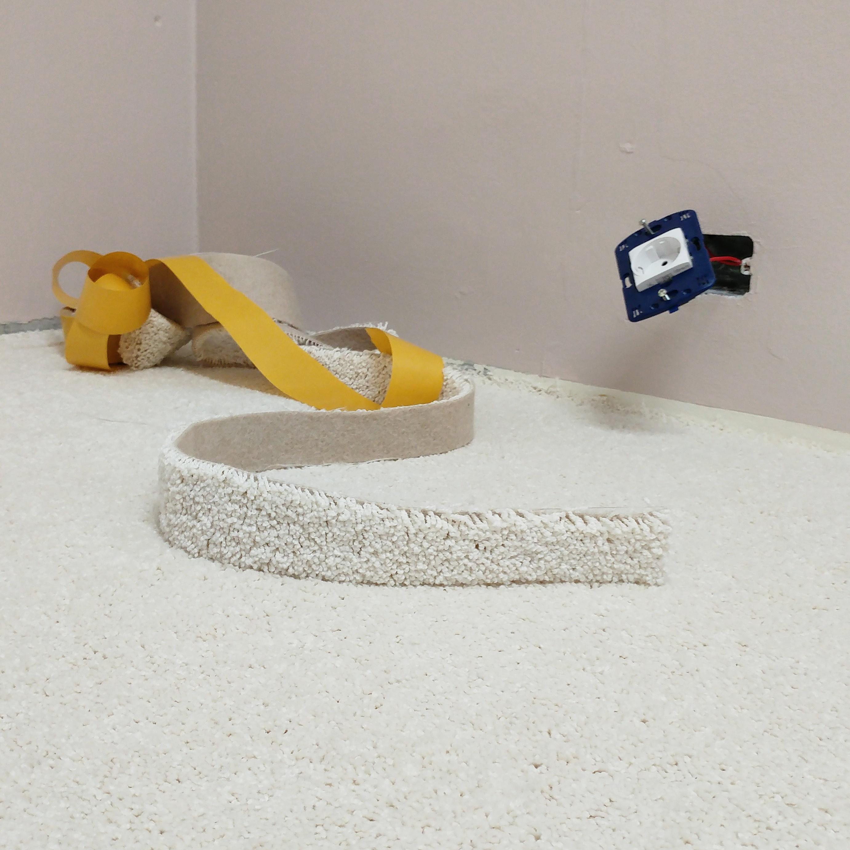 Renovation: White carpet flooring