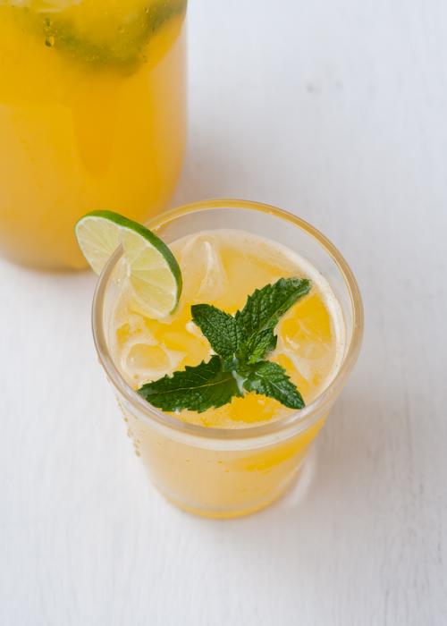 Mango-Mint Limeade Recipe — Dishmaps