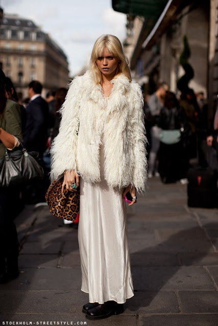 Fur - White - Coat - Animal Print Bag