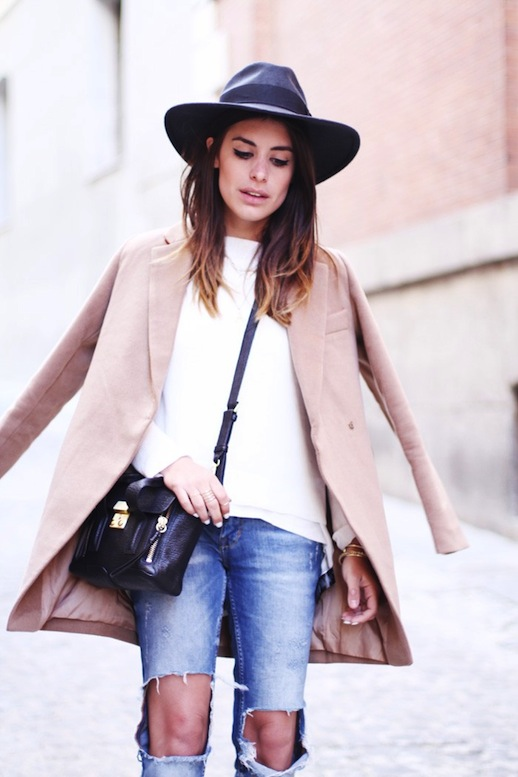 Le-Fashion-Blog-Barcelona-Blogger-Style-Fedora-Hat-Ripped-Knee-Jeans-2014-1