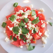 Healthy and fresh watermelon salad