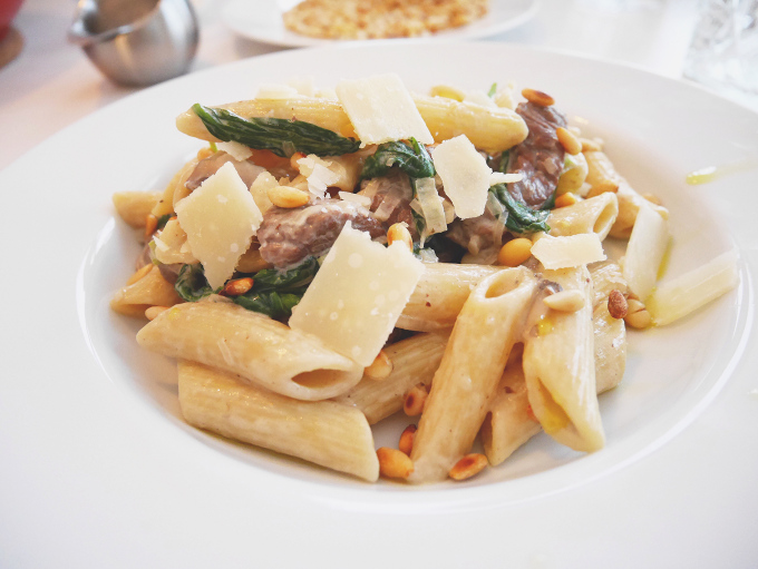 Beef and mushroom pasta with truffle