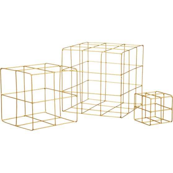 3-piece-brass-wire-cube-set