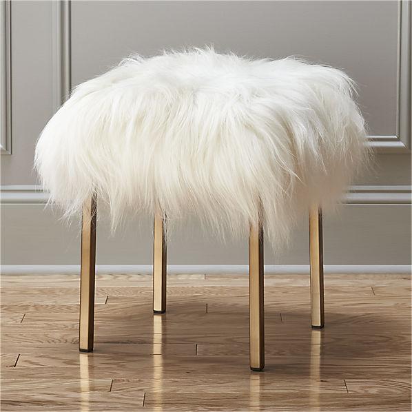 sheepskin-stool