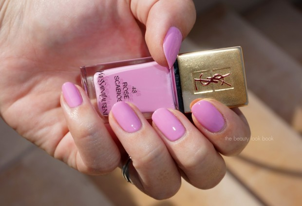 YSL 48 Rose Scabiosa swatched