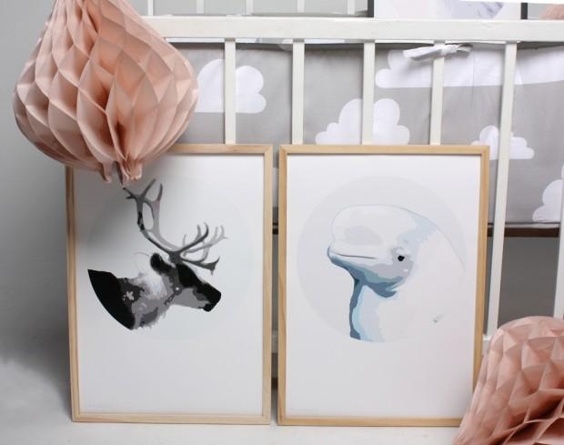 Pastelpaperpetitdeerwhale