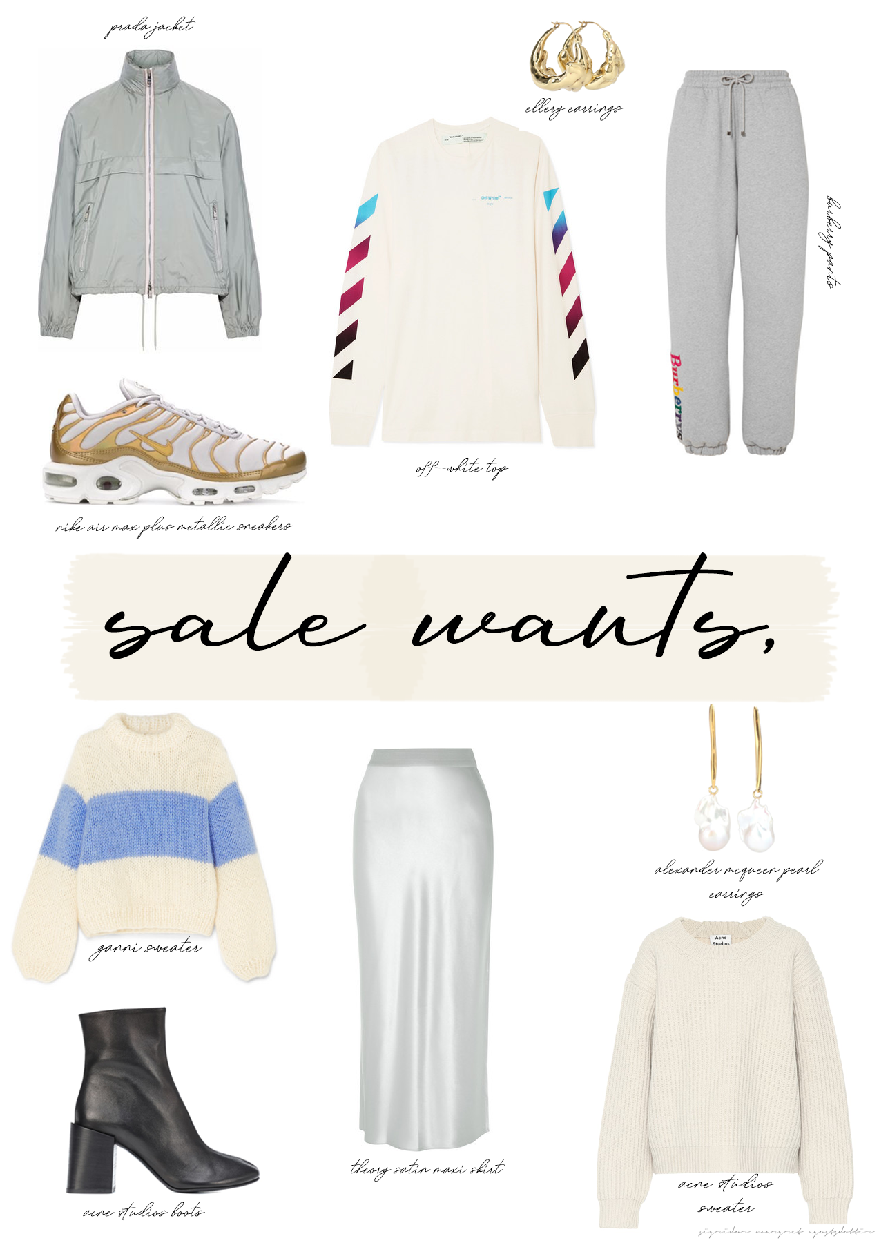 JANUARY SALE WANTS: