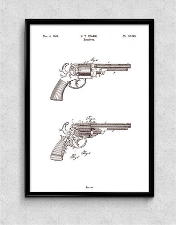 Revolver_Patent_Poster_Black_Frame_1024x1024-650x650