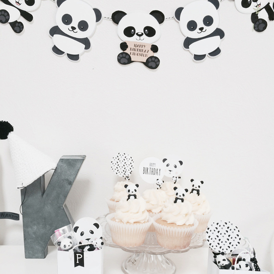 12_Sugarcoatedevents_panda_party_bear_birthday_kids_children_monochrome_little_gatherer