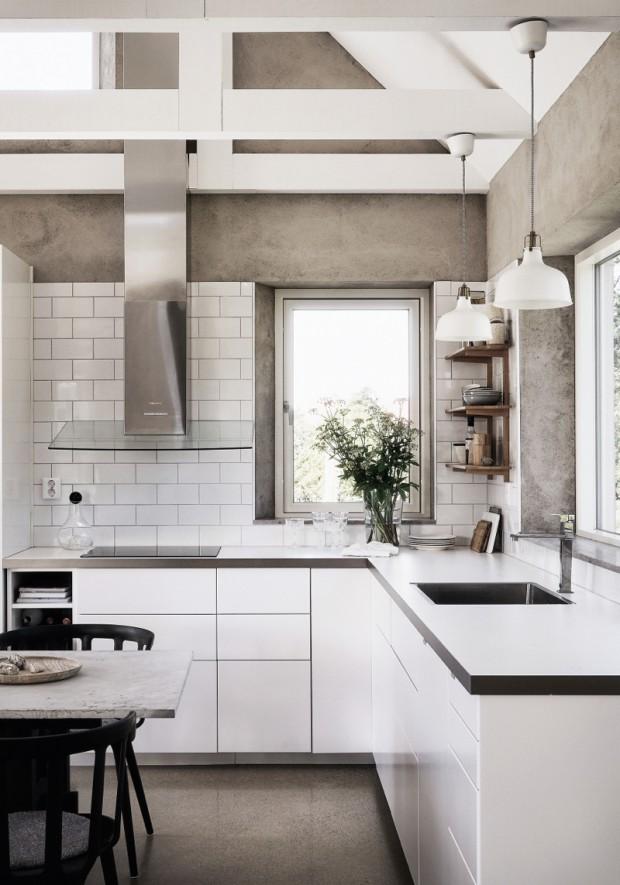 white-modern-kitchen-textured-warm-toned-walls