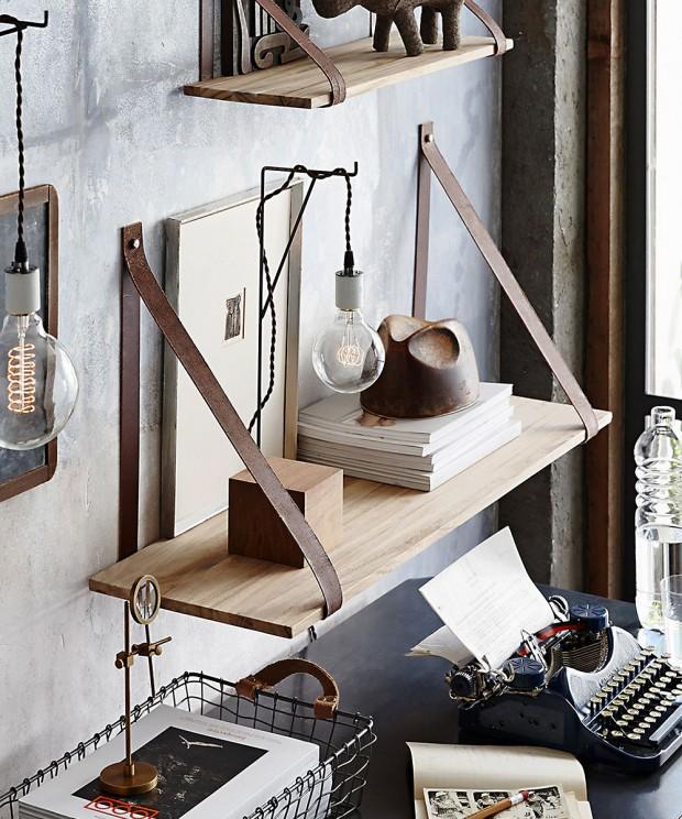 Leather Strap Shelf - 39.25 in._media-1